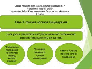 Северо-Казахстанская область, Мамлютский район. КГУ «Покровская средняя школ