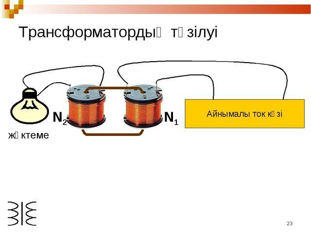 * N1 N2 жүктеме Трансформатордың түзілуі