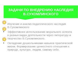 Изучение и анализ педагогического наследия В.Сухомлинского Эффективное испол