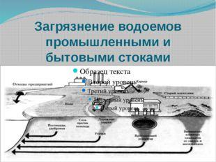 Загрязнение водоемов промышленными и бытовыми стоками