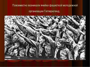 Повсеместно возникали ячейки фашисткой молодежной организации Гитлерюгенд.
