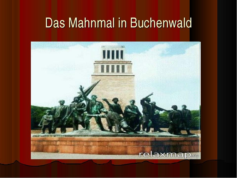 Das Mahnmal in Buchenwald
