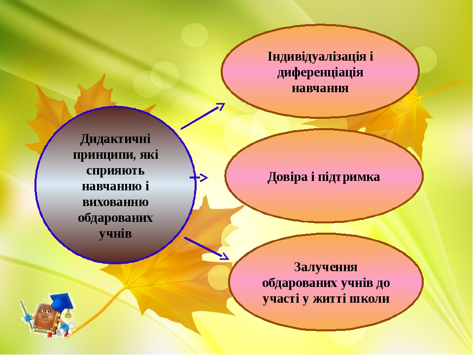 Дидактичні принципи, які сприяють навчанню і вихованню обдарованих учнів Інди...