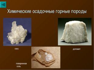 Химические осадочные горные породы