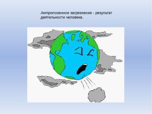 Антропогенное загрязнение - результат деятельности человека.