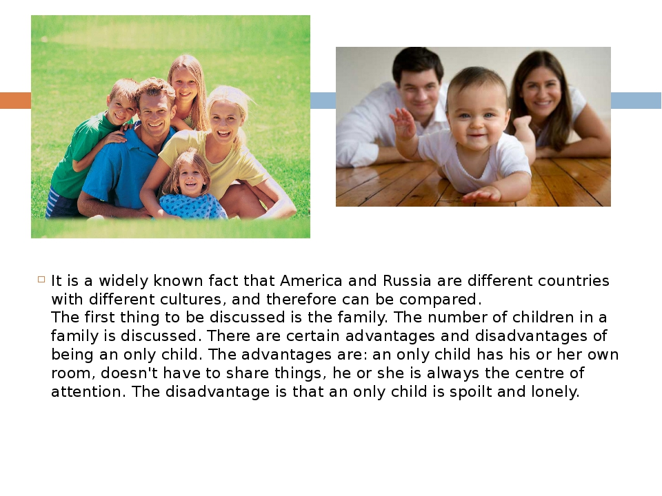It is a widely known fact that America and Russia are different countries wit...