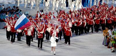 2010 год. Российская сборная на церемонии открытии Олимпиады