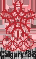Эмблема зимних Олимпийских игр 1988 года