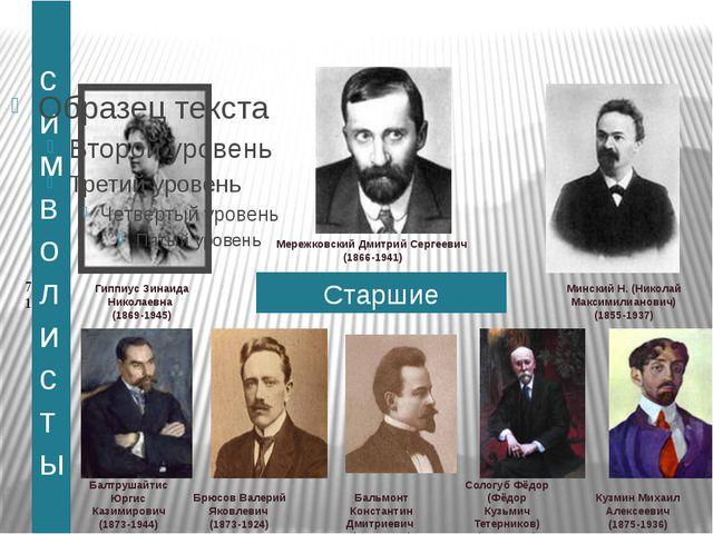 Младшие символисты Белый Андрей (Борис Николаевич Бугаев) (1880-1934) Блок Ал...