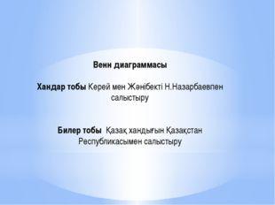 Венн диаграммасы  Хандар тобы Керей мен Жәнібекті Н.Назарбаевпен салыстыру