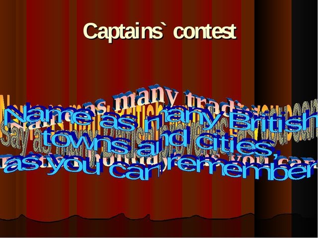 Captains` contest