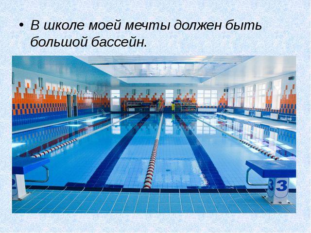 В школе моей мечты должен быть большой бассейн.