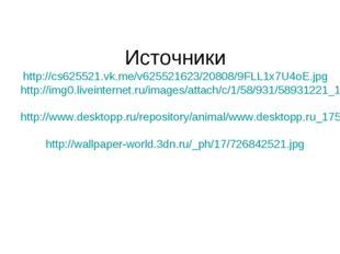 Источники http://cs625521.vk.me/v625521623/20808/9FLL1x7U4oE.jpg http://img0.