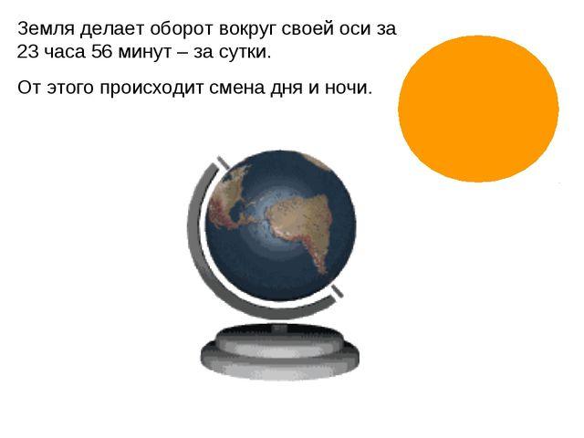 Земля делает оборот вокруг своей оси за 23 часа 56 минут – за сутки. От этого...