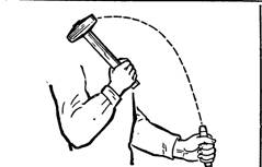 Плечевой удар молотком