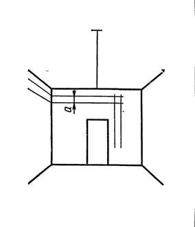 Разметка электропроводки на изоляторах