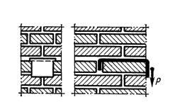 Установка закладной детали в кирпичной стене
