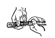 Надевание кабельного наконечника