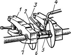 Соединение алюминиевых жил встык в открытых формах с помощью пропан-кислородной сварки
