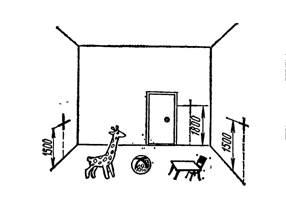 Разметка мест установки выключателей и штепсельных розеток в детских учреждениях