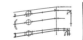 Разметка мест креплений для одного-двух проводов и защищенных кабелей