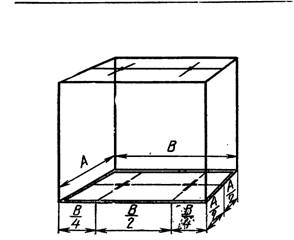 Разметка мест установки двух светильников