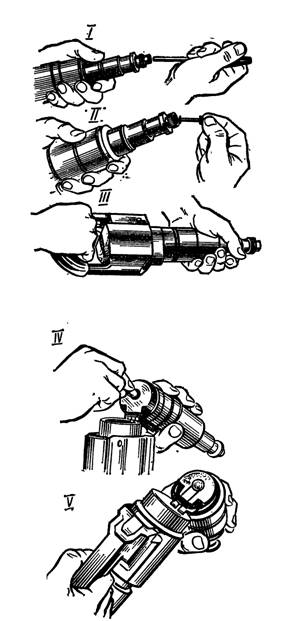 Подготовка пистолета к выстрелу