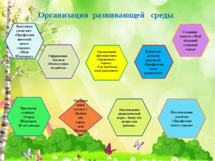 Организация развивающей среды Выставка стенгазет «Профессии жителей моего гор