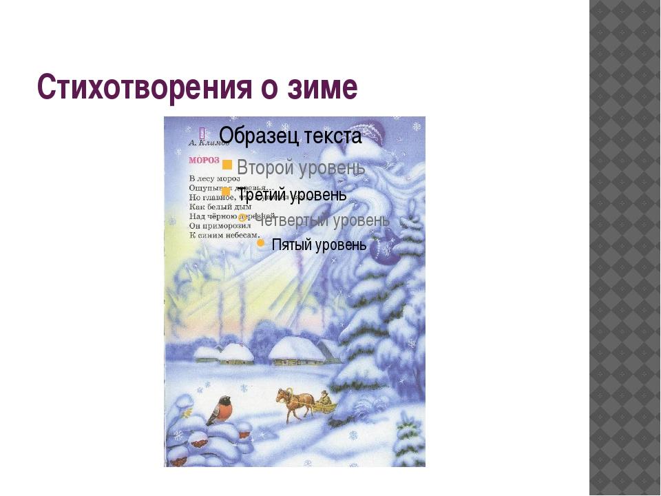 Стихотворения о зиме