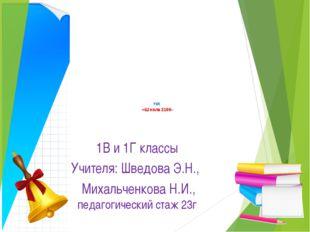 УМК «Школа 2100» 1В и 1Г классы Учителя: Шведова Э.Н., Михальченкова Н.И., п