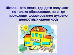 Школа – это место, где дети получают не только образование, но и где происход