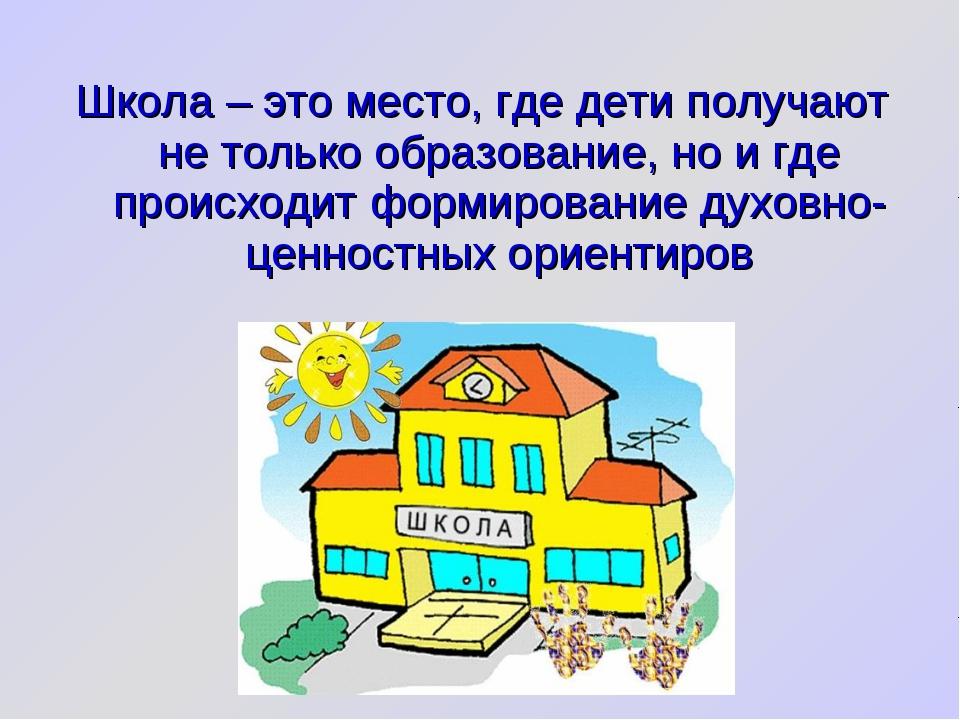 Школа – это место, где дети получают не только образование, но и где происход...