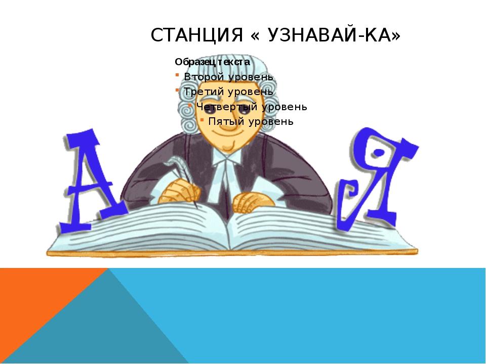 СТАНЦИЯ « УЗНАВАЙ-КА»