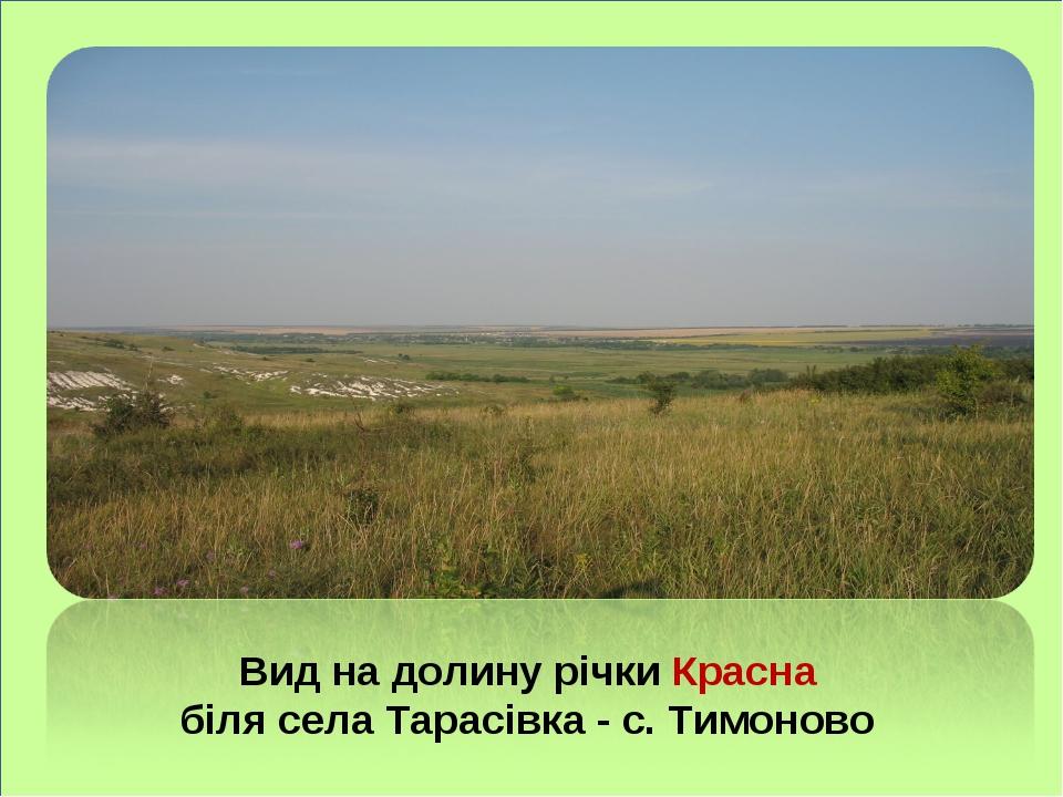 Вид на долину річки Красна біля села Тарасівка - с. Тимоново