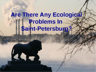 Are There Any Ecological Problems In Saint-Petersburg?