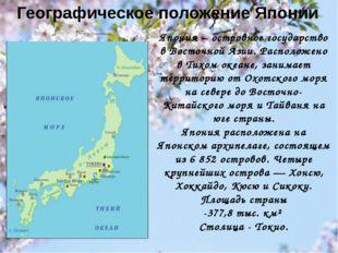Географическое положение Японии Япония – островное государство в Восточной Аз