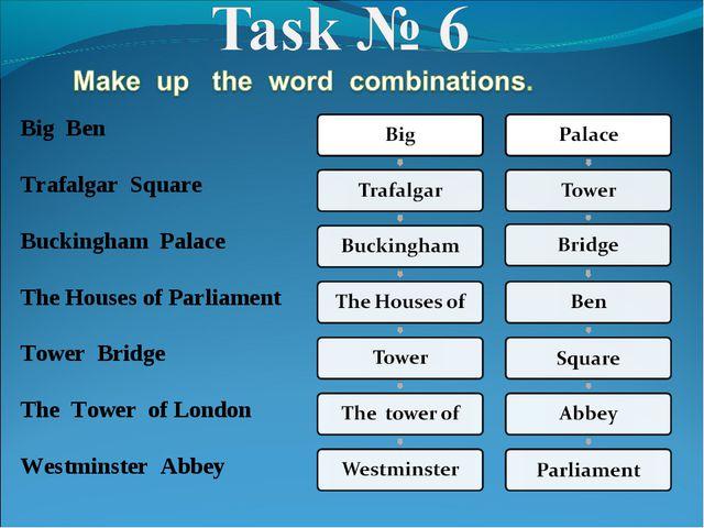 Big Ben Trafalgar Square Buckingham Palace The Houses of Parliament Tower Bri...