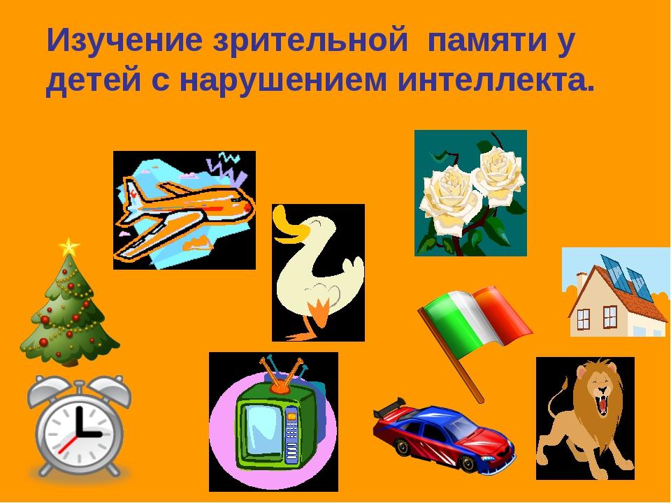 Изучение зрительной памяти у детей с нарушением интеллекта.