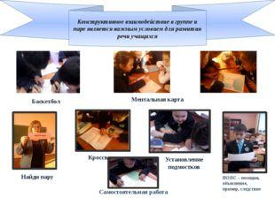 Конструктивное взаимодействие в группе и паре является важным условием для ра