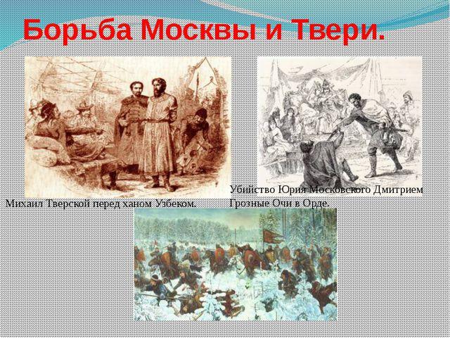 Борьба Москвы и Твери. Убийство Юрия Московского Дмитрием Грозные Очи в Орде....