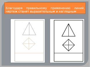 Благодаря правильному применению линий, чертеж станет выразительным и наглядным