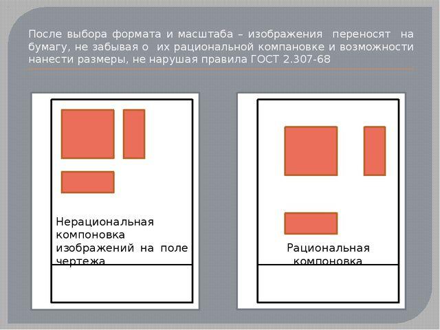 После выбора формата и масштаба – изображения переносят на бумагу, не забыва...