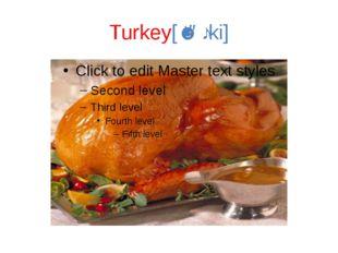 Turkey[ˈtəːki]