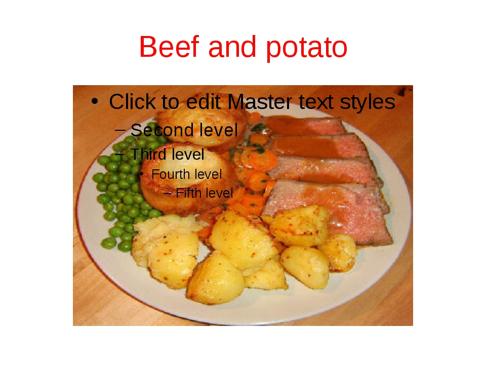 Beef and potato