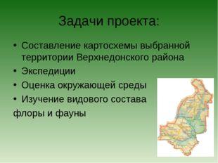 Задачи проекта: Составление картосхемы выбранной территории Верхнедонского ра