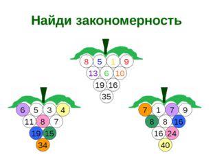 Найди закономерность 5 11 7 3 9 1 8 16 8 1 5 13 9 10 6 16 35 19 6 8 4 15 19 3