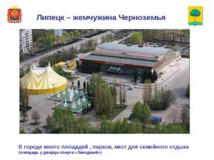 В городе много площадей , парков, мест для семейного отдыха (площадь у дворц
