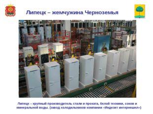 Липецк – крупный производитель стали и проката, белой техники, соков и минер