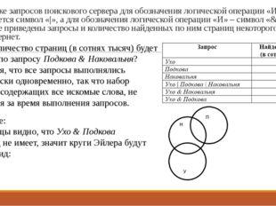 17. В языке запросов поискового сервера для обозначения логической операции «