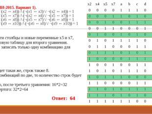 23 (Из ФИПИ-2015. Вариант 1). ((x1 ↔ x3) \/ (x2 ↔ x4)) /\ (¬(x1 ↔ x3) \/ ¬(x2